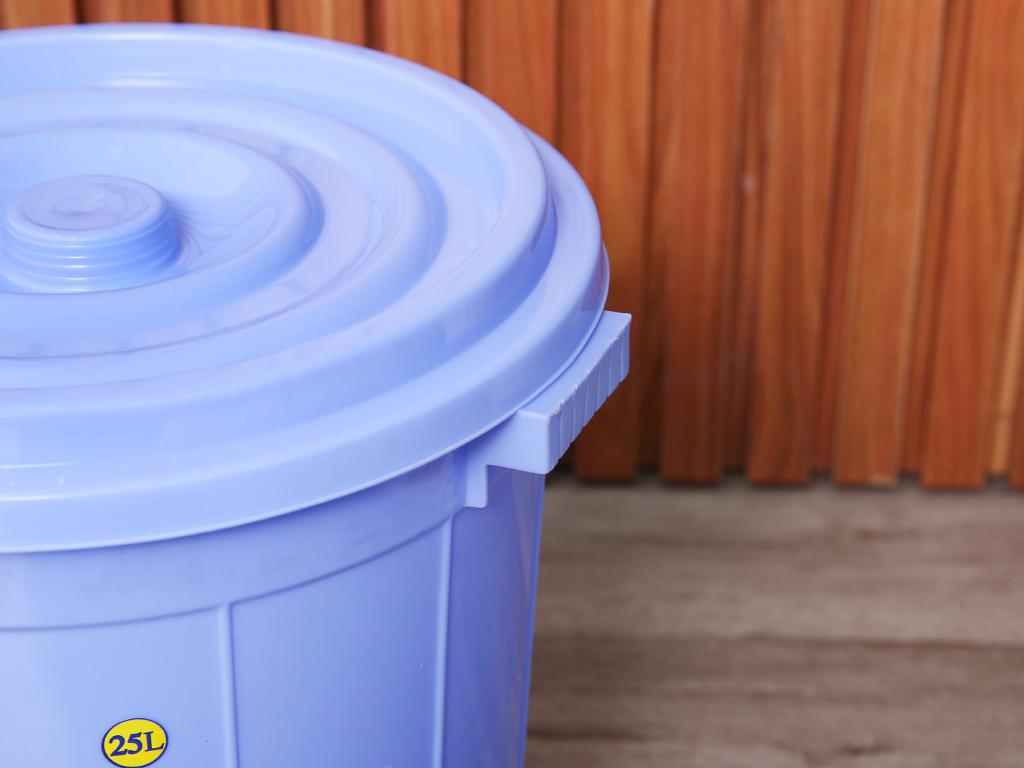 Thùng nhựa tròn có nắp Duy Tân 25 lít (giao màu ngẫu nhiên) 3