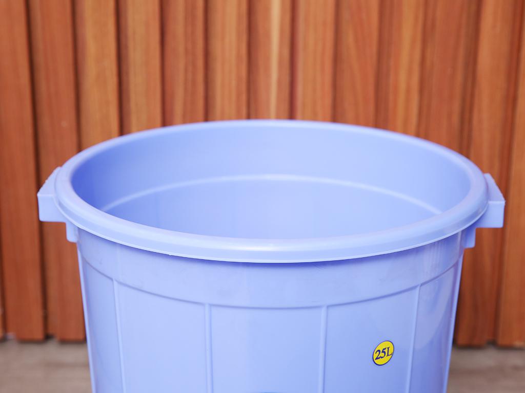 Thùng nhựa tròn có nắp Duy Tân 25 lít (giao màu ngẫu nhiên) 4