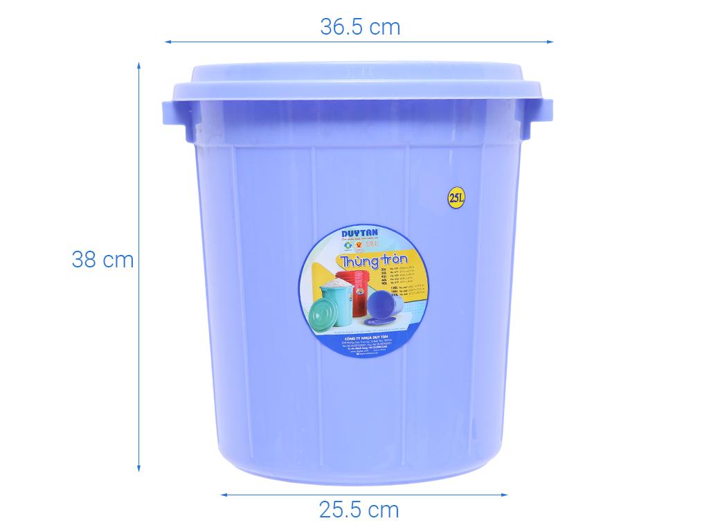Thùng nhựa tròn có nắp Duy Tân 25 lít (giao màu ngẫu nhiên) 7