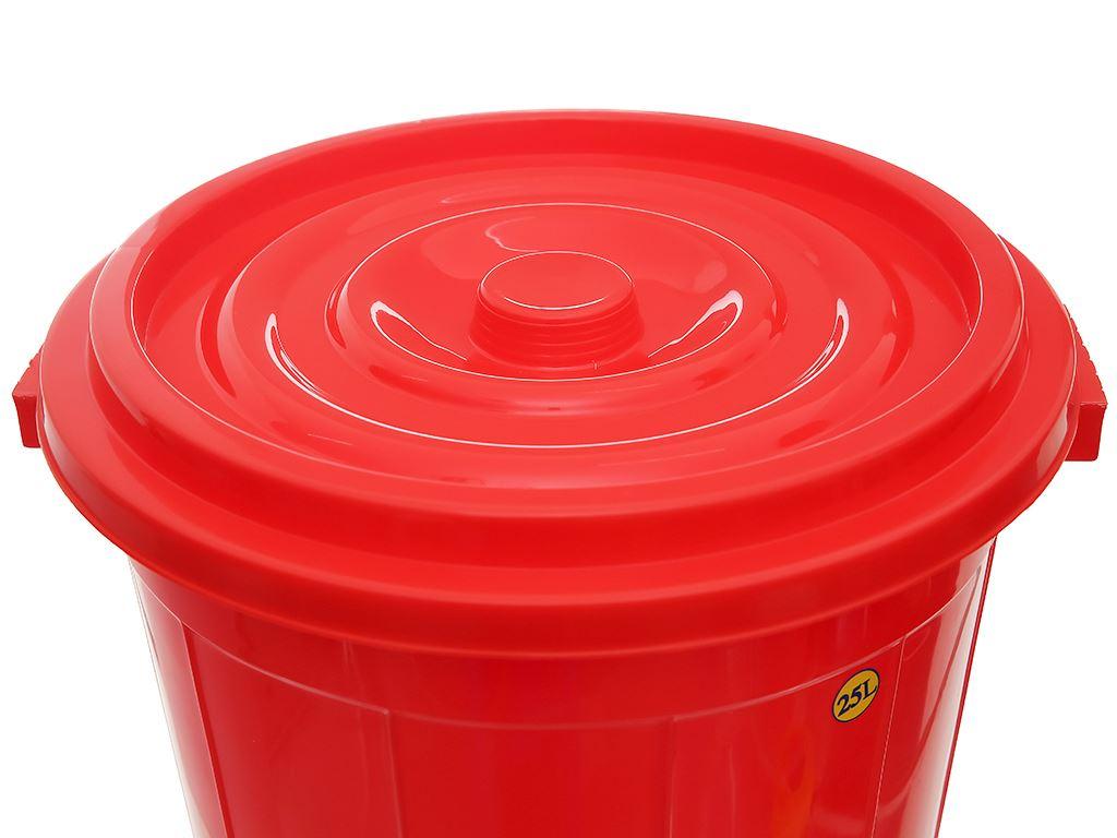 Thùng đựng nước nhựa tròn có nắp Duy Tân 25 lít (giao màu ngẫu nhiên) 8