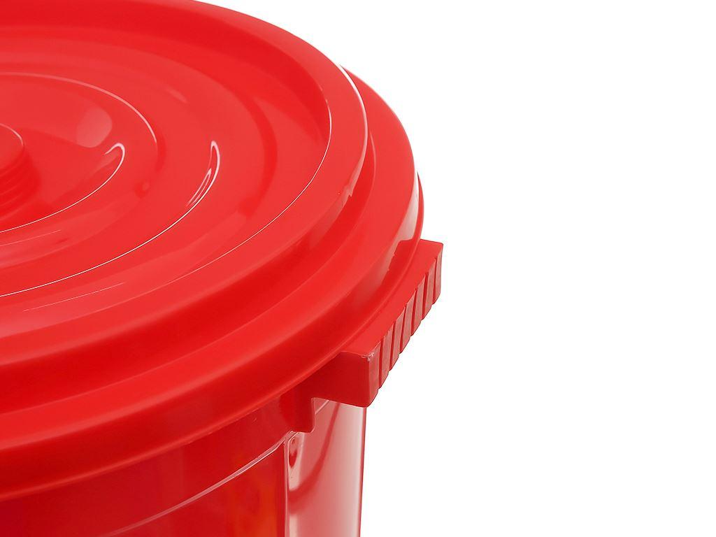 Thùng đựng nước nhựa tròn có nắp Duy Tân 25 lít (giao màu ngẫu nhiên) 9