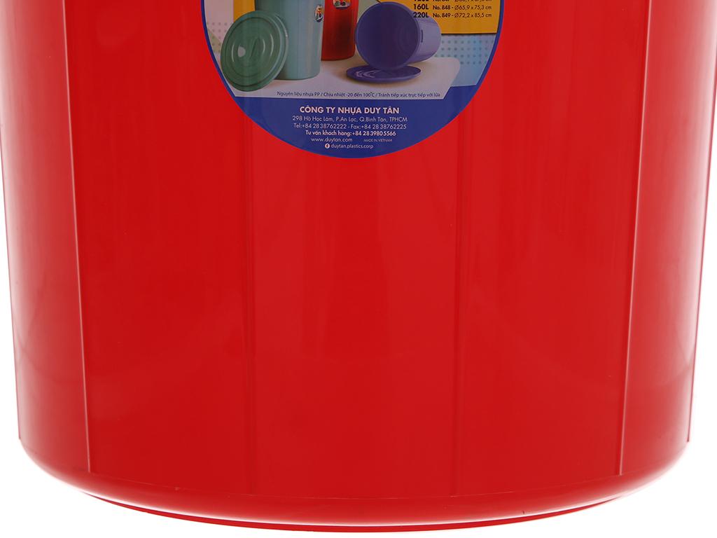 Thùng nhựa tròn có nắp Duy Tân 35 lít (giao màu ngẫu nhiên) 5
