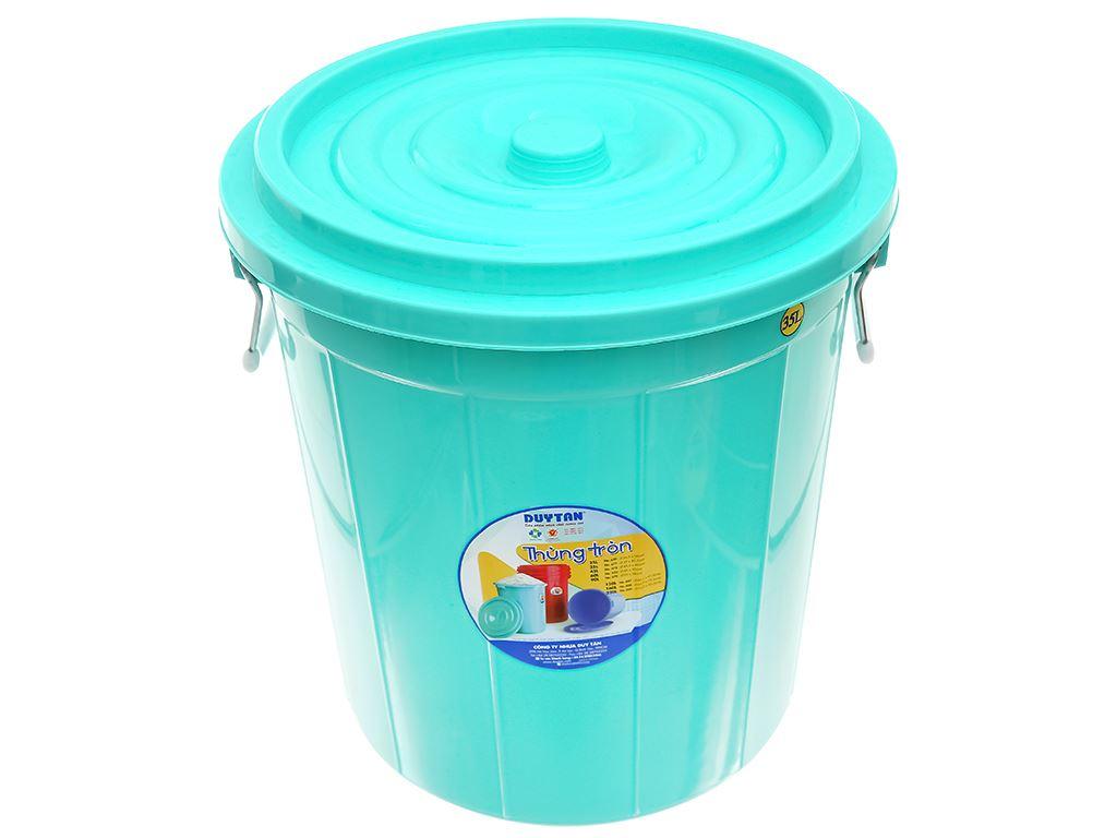 Thùng đựng nước nhựa tròn có nắp Duy Tân 35 lít (giao màu ngẫu nhiên) 1