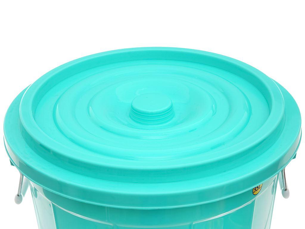 Thùng đựng nước nhựa tròn có nắp Duy Tân 35 lít (giao màu ngẫu nhiên) 2