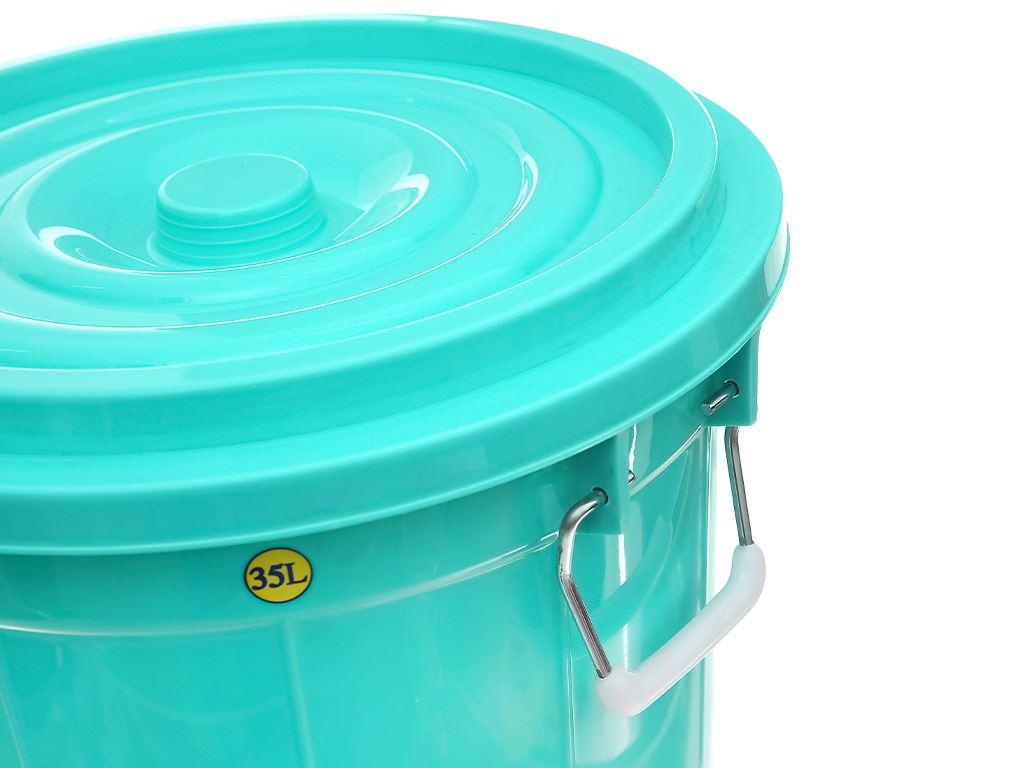 Thùng đựng nước nhựa tròn có nắp Duy Tân 35 lít (giao màu ngẫu nhiên) 3