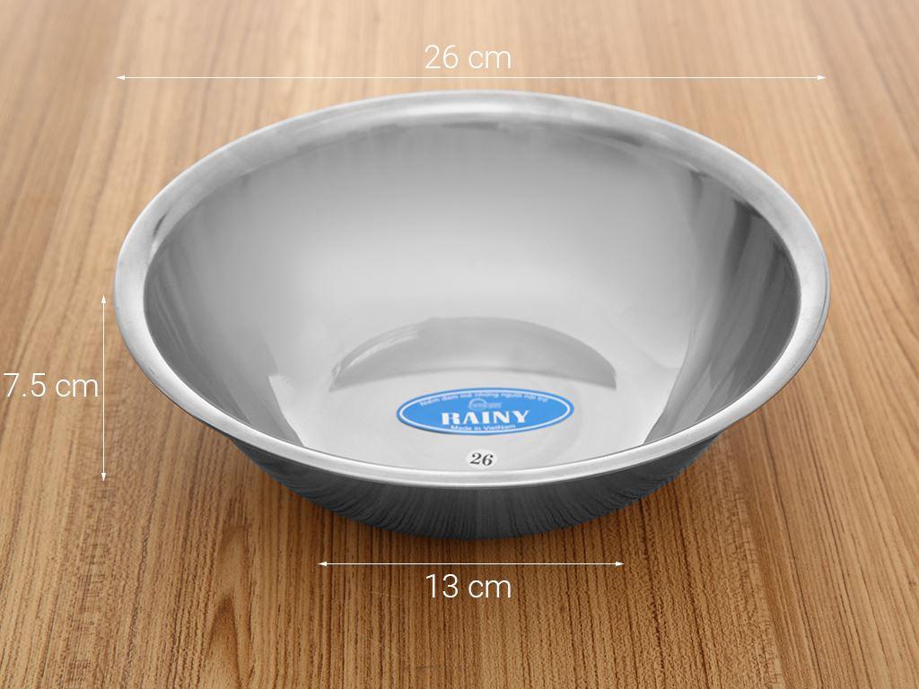 Thau inox tròn Rainy THAU26-4D 26cm 6