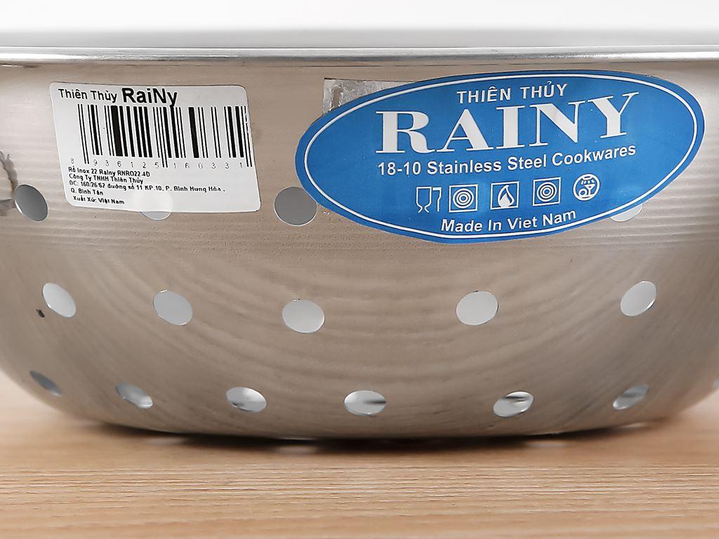 Rổ inox tròn Rainy RNR022-4D 22cm 4