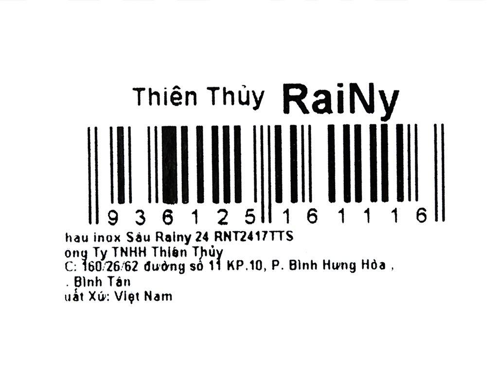 Thau inox tròn Rainy RNT2417TTS 24cm 7