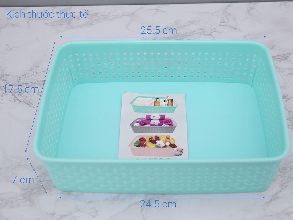 Rổ chữ nhật nhựa Tự Lập TL1 - 997 26cm 7