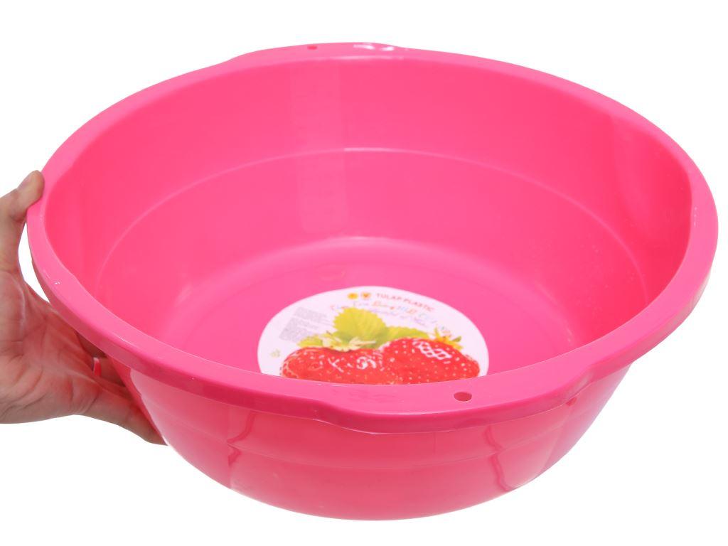 Thau nhựa 40cm Tự Lập TL1- 828 màu hồng 1
