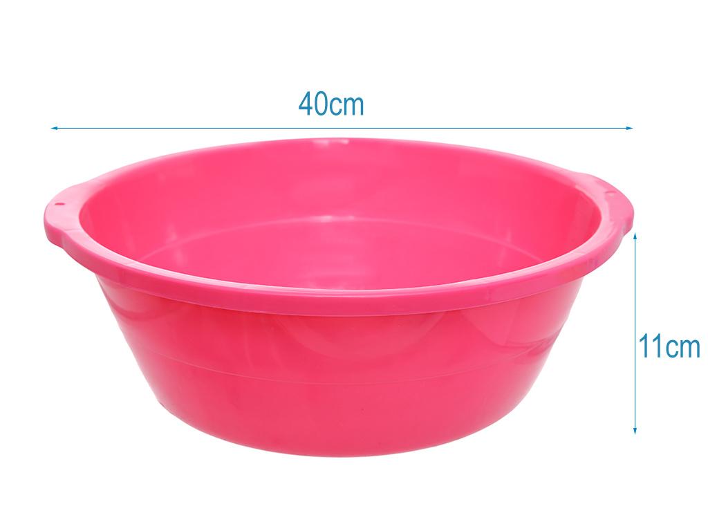 Thau nhựa 40cm Tự Lập TL1- 828 màu hồng 5