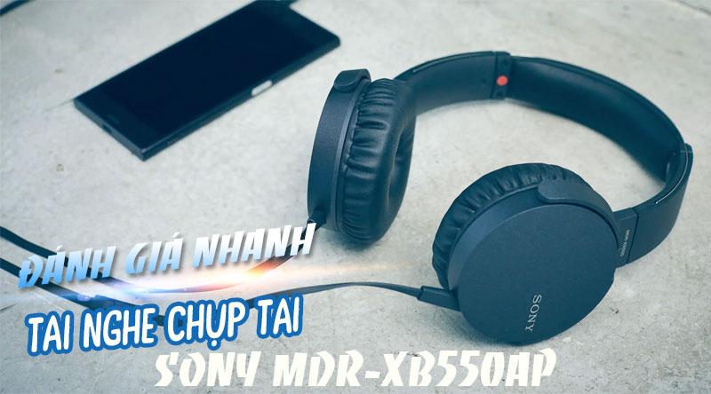 Tai nghe Có Dây Chụp Tai Sony Extra Bass MDR-XB550AP
