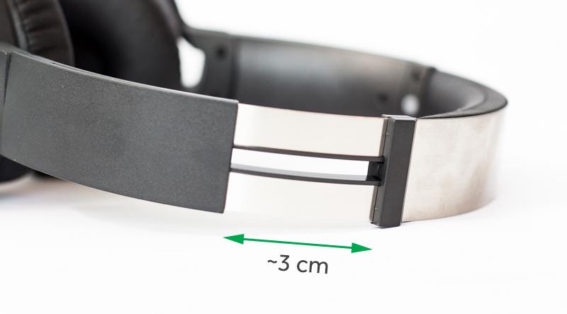 Tai nghe chụp tai Sony MDR-XB550AP - Chất liệu đệm tai nghe và kích thước