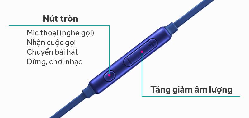 Tai nghe nhét trong Samsung EG920B - Các phím ấn chức năng trên dây loa