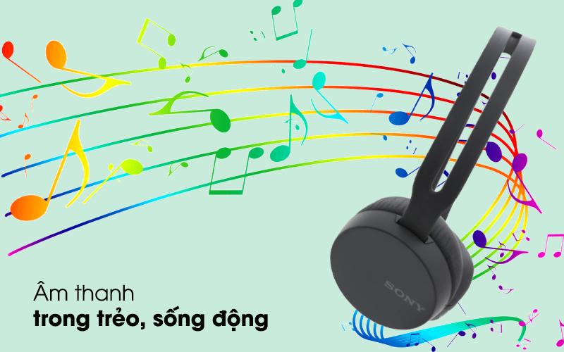 Âm bass mạnh, tái tạo âm thanh chi tiết - Tai nghe chụp tai Bluetooth Sony WH-CH400