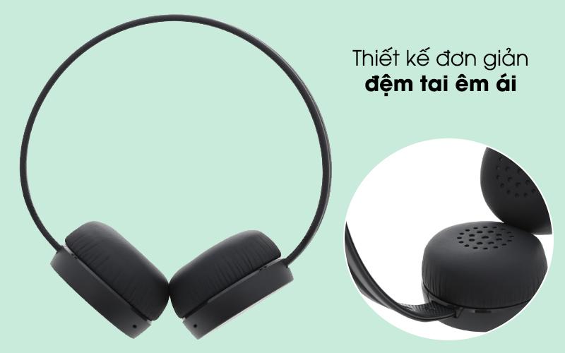Thiết kế đơn giản, nhỏ gọn - Tai nghe chụp tai Bluetooth Sony WH-CH400