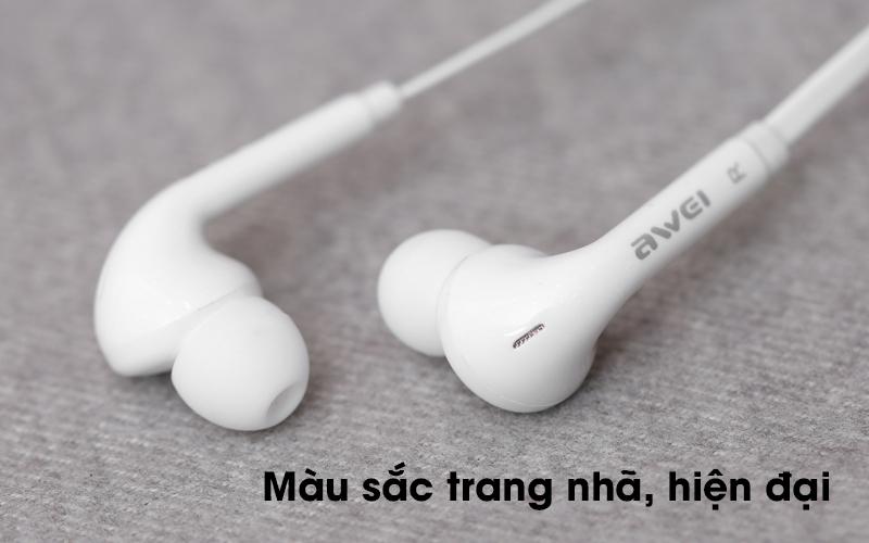 Tai nghe EP Awei Q60Hi trắng có màu sắc thanh lịch