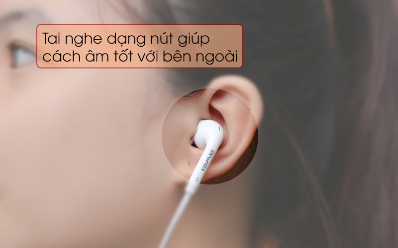Tai nghe EP Awei Q60Hi trắng êm tai khi sử dụng