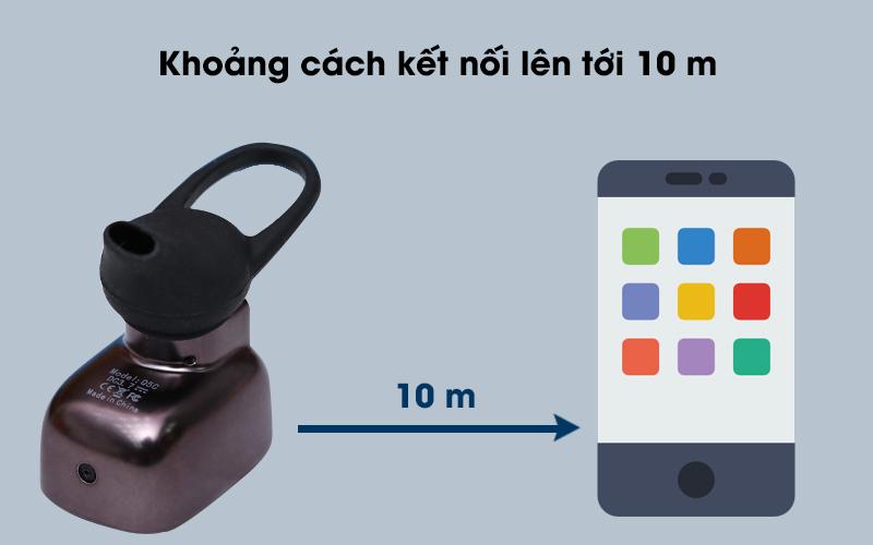 Tai nghe Bluetooth Roman Q5C Đen có khoảng cách kết nối xa