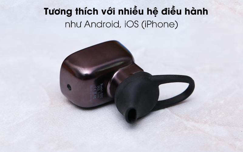 Tai nghe Bluetooth Roman Q5C đen tương tích nhiều hệ điều hành