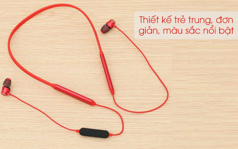 Tai nghe Bluetooth Mozard Q6 Đỏ có thiết kế trẻ trung
