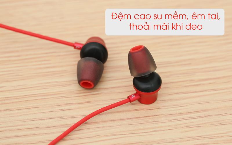 Tai nghe Bluetooth Mozard Q6 Đỏ có đệm tai êm ái