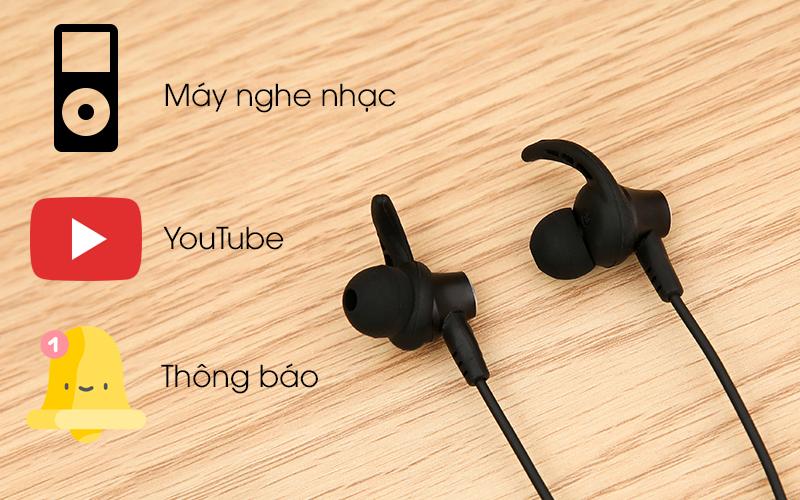 Tai nghe Bluetooth Mozard Flex4 Đen Xanh có thể kết nối và nghe nhạc hoặc nghe nhận cuộc gọi