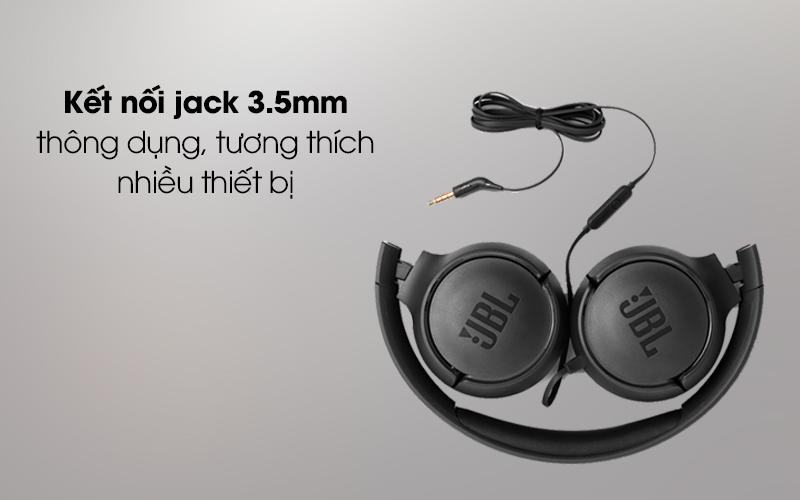 Tai nghe chụp tai JBL T500 tương thích với nhiều thiết bị