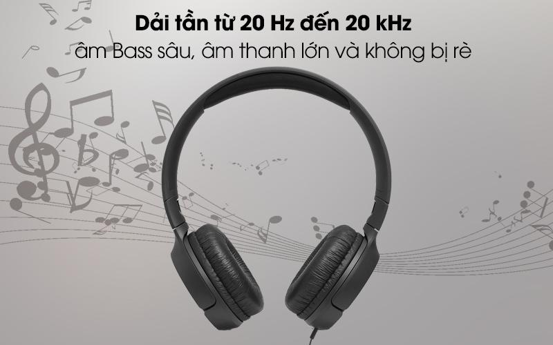 Tai nghe chụp tai JBL T500 cho âm thanh chất lượng