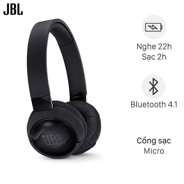 Tai nghe chụp tai Bluetooth JBL Tune T600 Đen