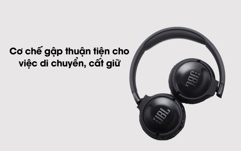 Tai nghe chụp tai Bluetooth JBL Tune T600BTNCBLK đen dễ dàng gập gọn