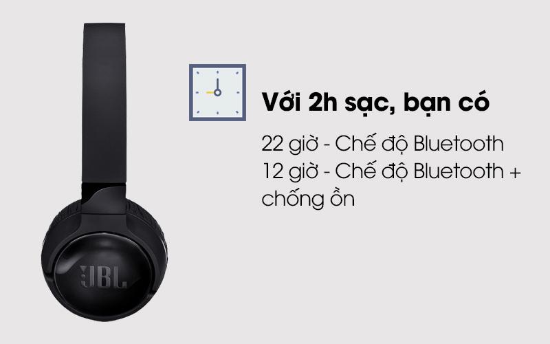 Tai nghe chụp tai Bluetooth JBL Tune T600BTNCBLK đen có thời lượng pin lớn