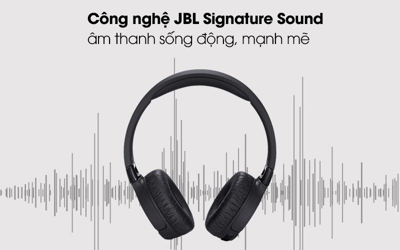 Tai nghe chụp tai Bluetooth JBL Tune T600BTNCBLK đen có công nghệ JBL Signa Sound
