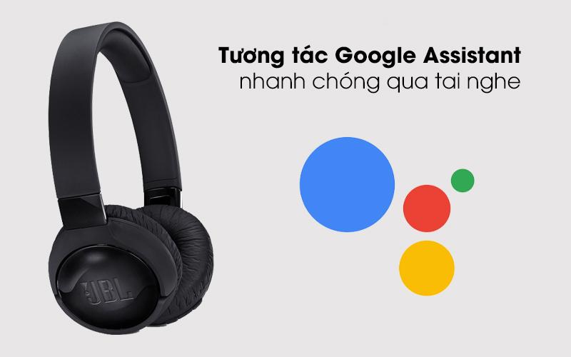 Tai nghe chụp tai Bluetooth JBL Tune T600BTNCBLK Đen có thể bật Google Assistant mà không cần mở điện thoại