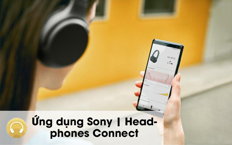 Tai nghe chụp tai Bluetooth Sony WH-XB700 đi cùng ứng dụng tiện ích