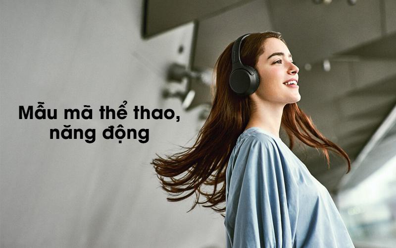 Tai nghe chụp tai Bluetooth Sony WH-XB700 có thiết kế năng động