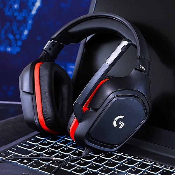 Tai nghe chụp tai Gaming Logitech G331 Đen Đỏ