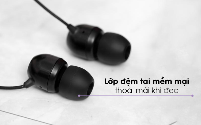 Êm ái khi đeo, cách âm tốt - Tai nghe Bluetooth LG HBS-510 Đen