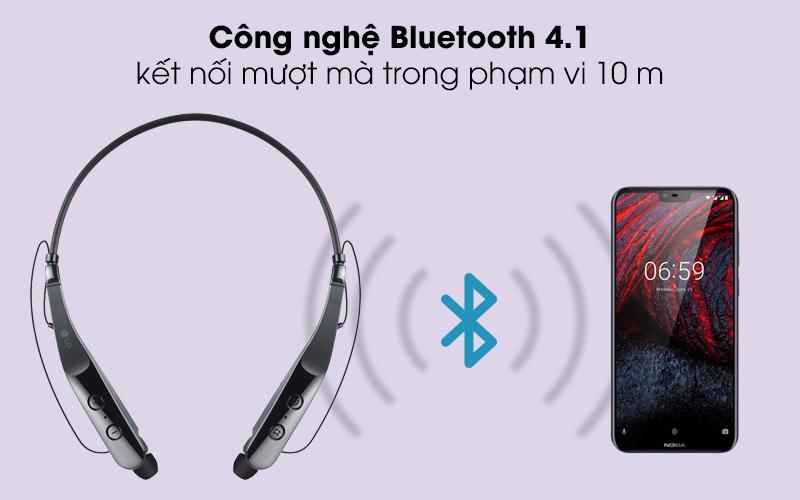 Công nghệ bluetooth 4.1 - Tai nghe Bluetooth LG HBS-510 Đen