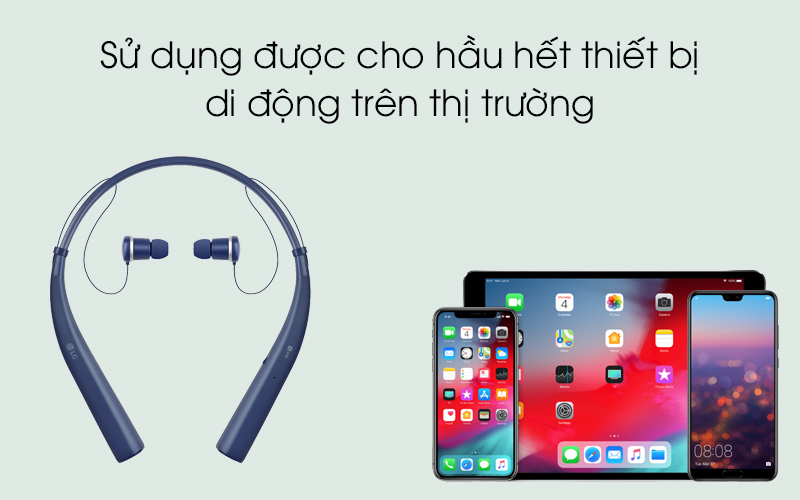Kết nối được hầu hết điện thoại, máy tính bảng và laptop - Tai nghe Bluetooth LG HBS-780