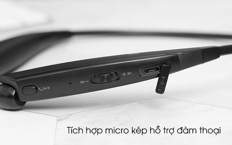 Tích hợp micro kép hỗ trợ đàm thoại - Tai nghe Bluetooth LG HBS-835 Đen