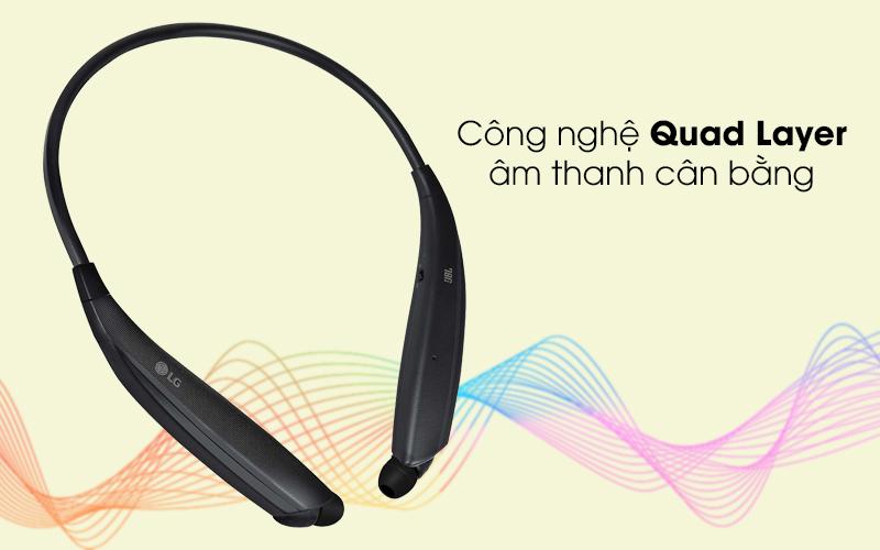 Âm cân bằng với với công nghệ Quad Layer - Tai nghe Bluetooth LG HBS-835 Đen