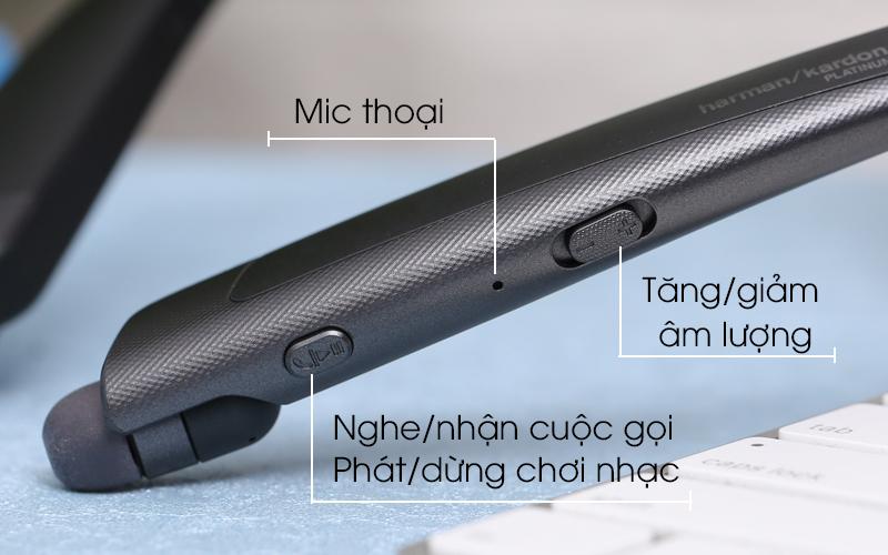 Trang bị các nút tính năng tiện ích - Tai nghe Bluetooth LG HBS-1120 Đen