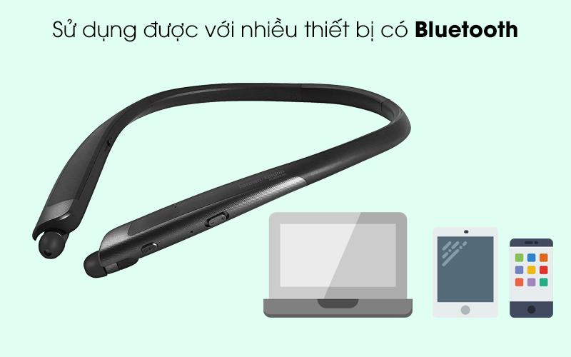 Tương thích với hầu hết điện thoại, máy tính bảng và laptop - Tai nghe Bluetooth LG HBS-1120 Đen