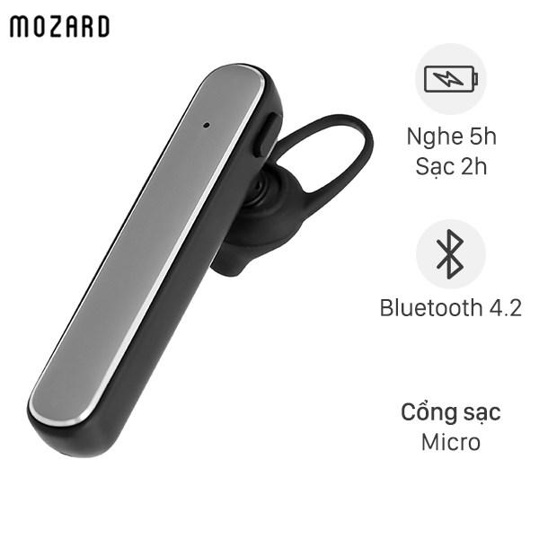Tai nghe Bluetooth Mozard R558A Xám Đen