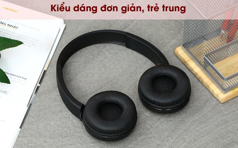 Tai nghe chụp tai Bluetooth Sony WH-CH510/BC đen có thiết kế thời trang