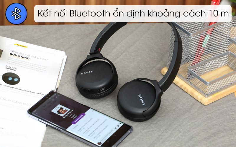 Tai nghe chụp tai Bluetooth Sony WH-CH510/BC đen cho kết nối ổn định