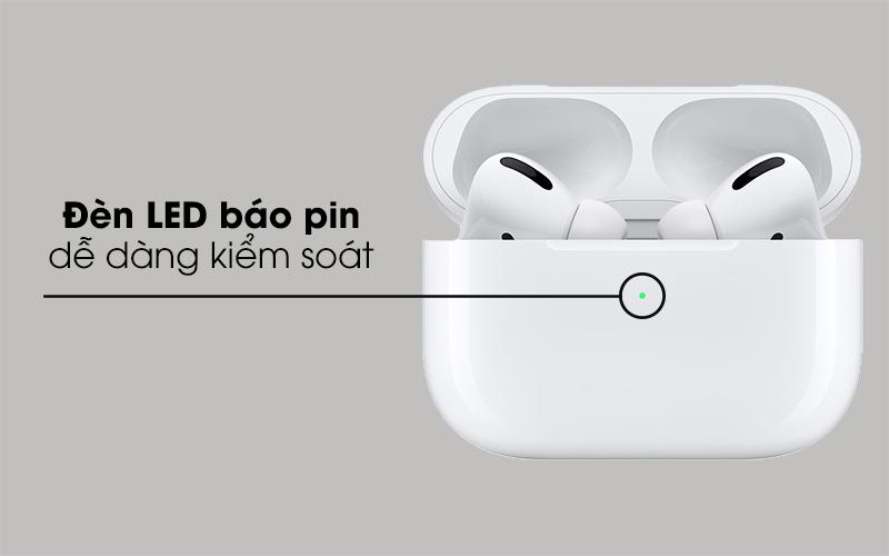 Trang bị đèn LED báo pin tiện lợi - Tai nghe Bluetooth Airpods Pro Apple