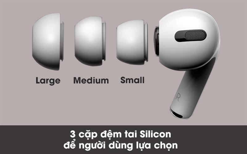 Đi kèm theo 3 cặp đệm tai - Tai nghe Bluetooth Airpods Pro Apple