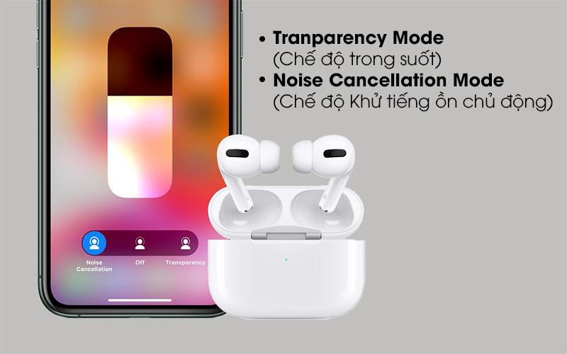 Tai nghe Bluetooth Airpods Pro Apple Trắng với 2 chế độ nghe